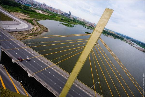 Казань с высоты птичьего полета - Миллениум мост фото