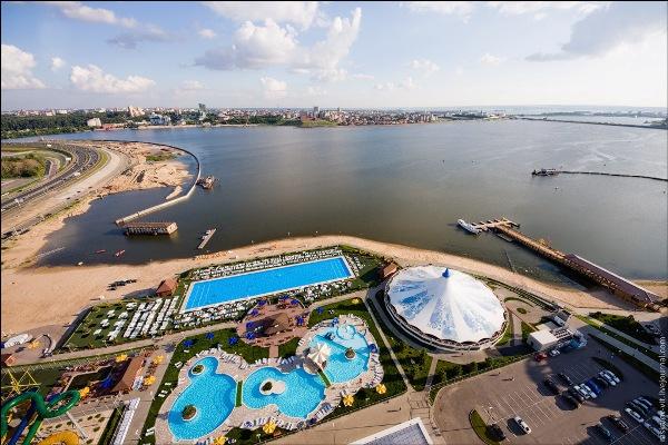 Развлечения Казань Ривьера Фото с высоты полета