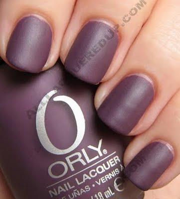 матовый маникюр orly purple velvet