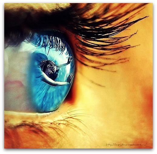 Как сделать фото глаза с моим отражением