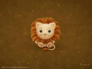 Забавные рисунки львенок