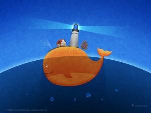 Забавные рисунки кит