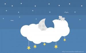 Забавные рисунки облако со звездами
