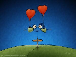 Забавные рисунки воздушные шары сердечки