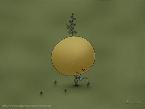 Забавные рисунки маленький сад