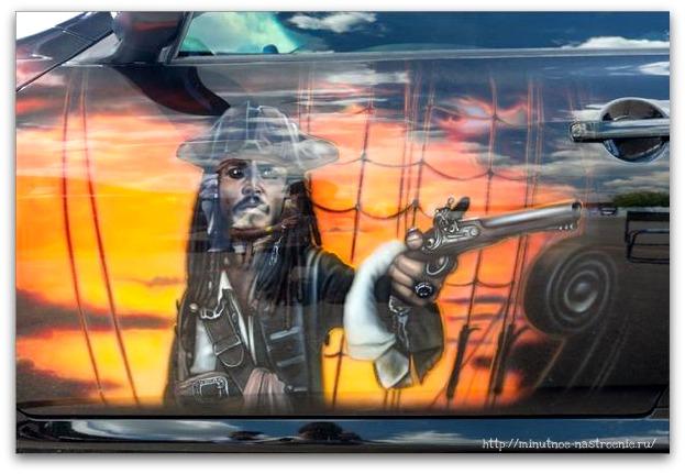 Аэрография на автомобилях Джонни Депп