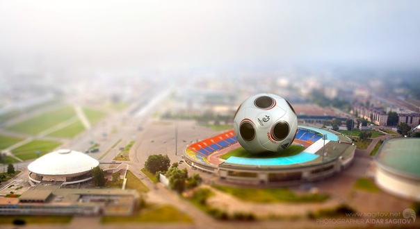 Игрушечная Казань фото центральный стадион