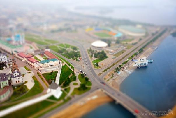 Игрушечная Казань фото Ленинская дамба