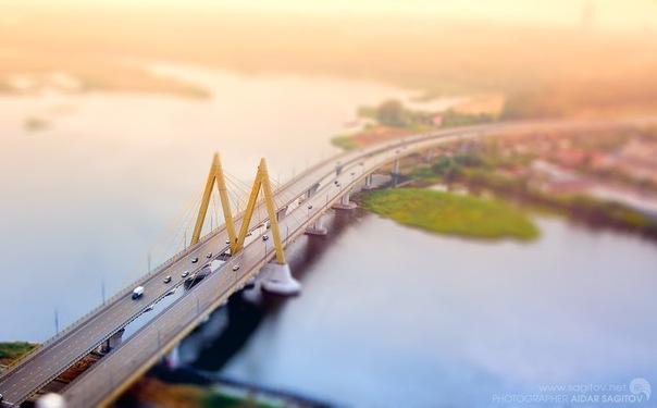 Игрушечная Казань фото мост Миллениум