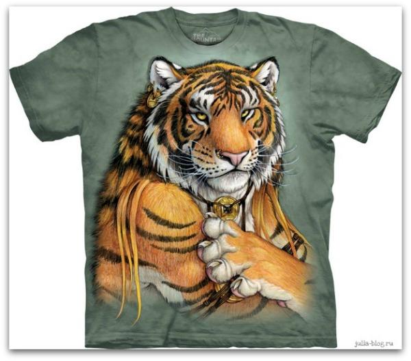 Звериные футболки часть 2  Tribal Tiger