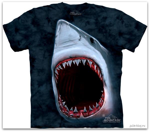 Звериные футболки часть 2 Shark Bite