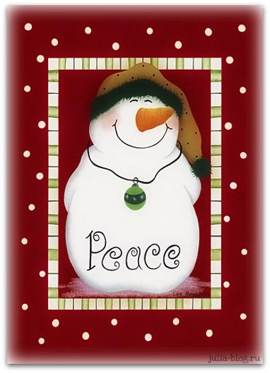 снеговик Peace рисунок