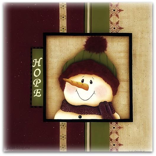 очаровательный снеговик улыбается фото картинка