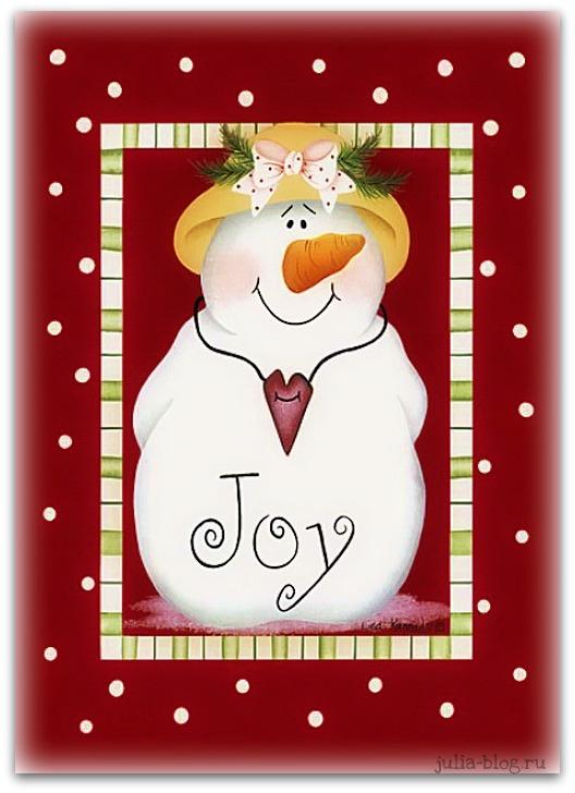 снеговик Joy рисунок
