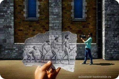 «Pencil VS Camera» от Ben Heine эволюция человека