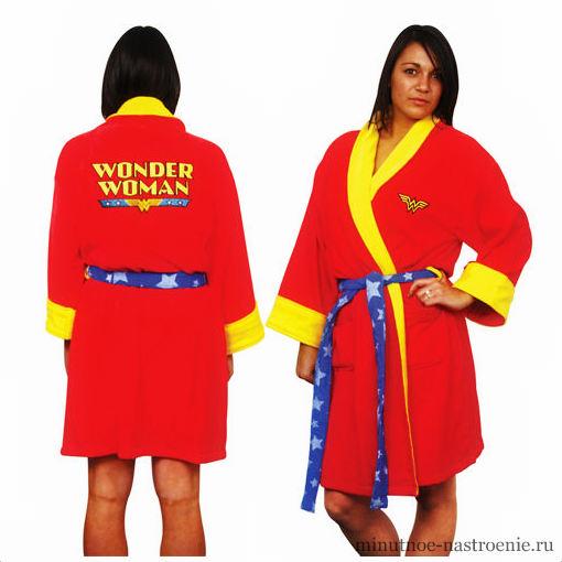 женский халат wonder woman