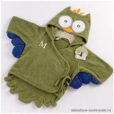 детский прикольный халат в форме совы