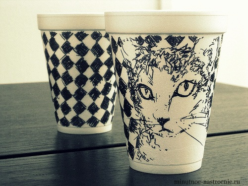 Кофейные стаканчики с кокой