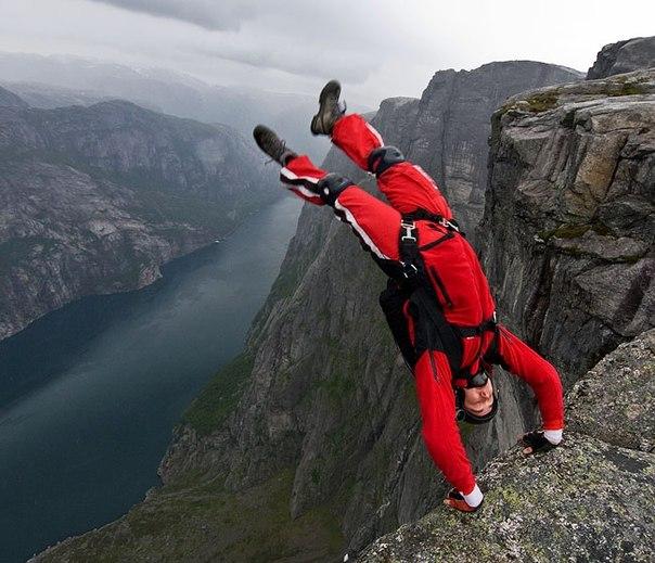 прыжки с высоты в норвегии