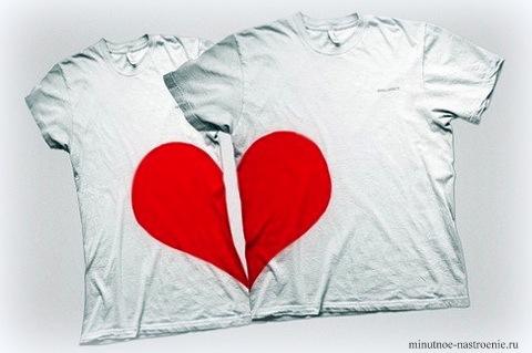 футболки на день святого валентина