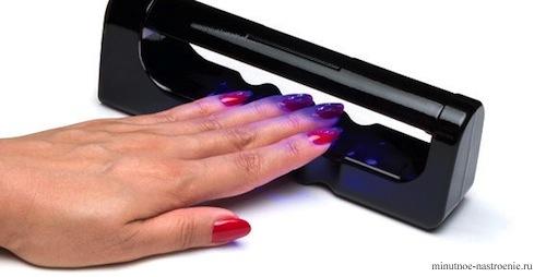 ультрафиолетовая лампа сушка шеллака фото