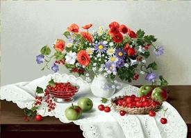 гобелен Цветы и ягоды;