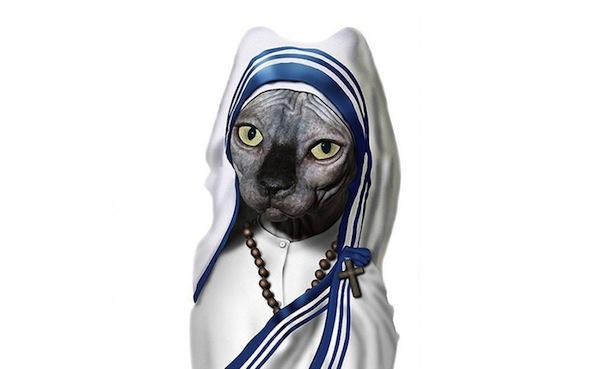 Животные ввиде знаменитостей мать Тереза