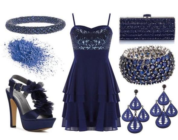 синее платье для нового года
