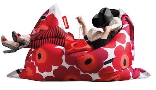кресло мешок красный фото