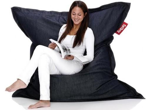 черный кресло-мешок фото