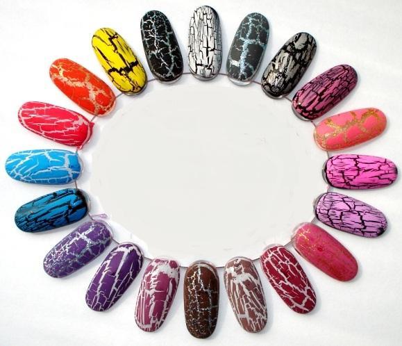 Кракелирование ногтей (растрескивающийся лак) цветовые гаммы