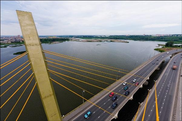 мост Миллиниум - фото Казань с высоты