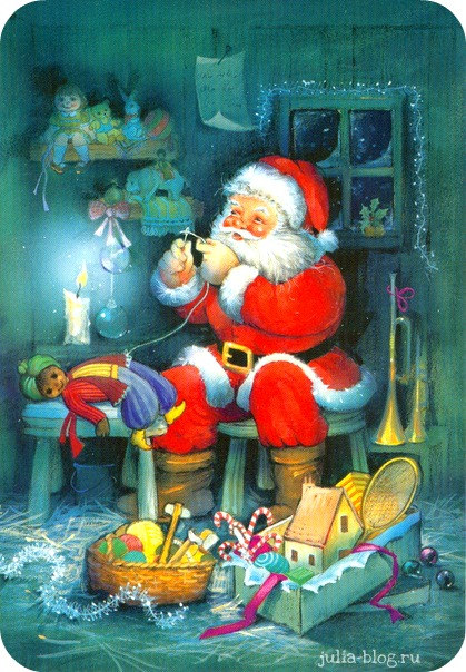 Новогодняя сказка - открытки дед мороз - фото