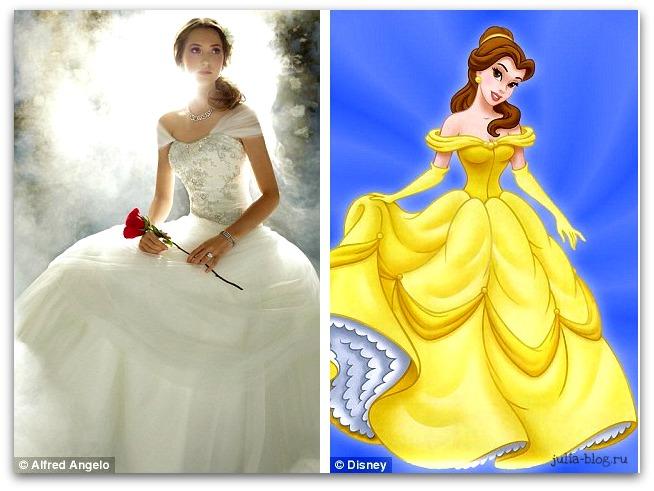 свадебное платье Белль - фото