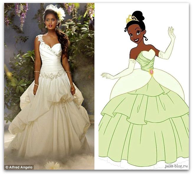 свадебное платье Тианы фото