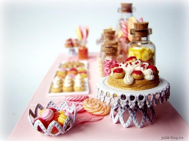 Кукольные десерты из полимерной глины фото картинка