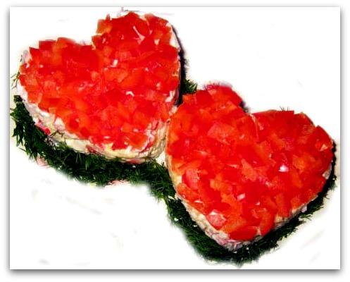 салат ко дню святого валентина рецепт фото