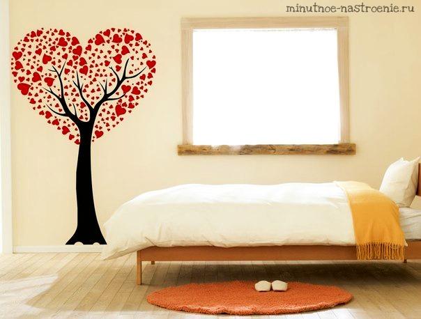 Весенние виниловые наклейки фото дерево любви