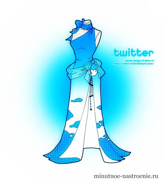 Выпускное платье Twitter