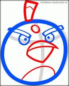Как нарисовать Angry Birds  поэтапно
