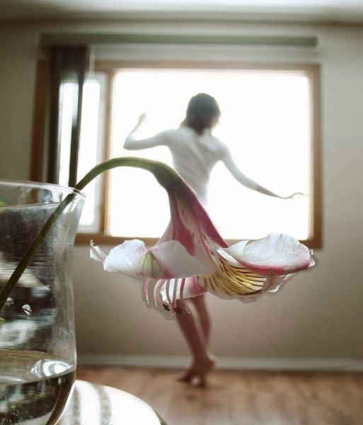 Девушки-цветы лилия фото