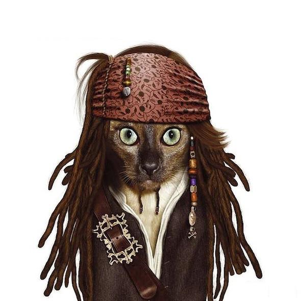 Животные в виде знаменитостей джонни депп пираты карибского моря