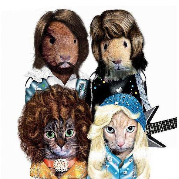 Животные в виде знаменитостей ABBA