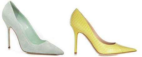 пастельные оттенки обувь 2014