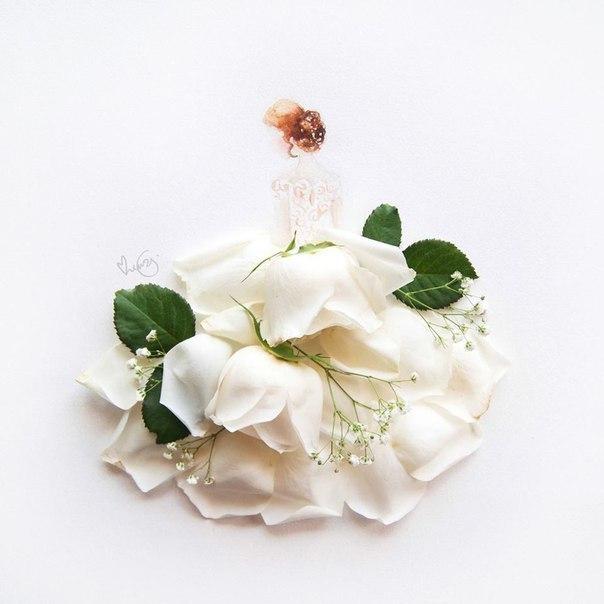 цветы, девушка, Limzy, белая роза